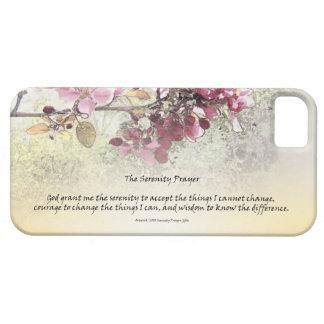 Flores del rosa del rezo de la serenidad iPhone 5 Case-Mate cárcasa