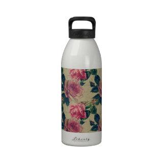 Flores del rosa del Victorian del vintage Botellas De Beber
