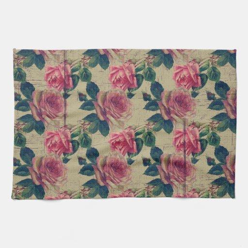 Flores del rosa del Victorian del vintage Toalla
