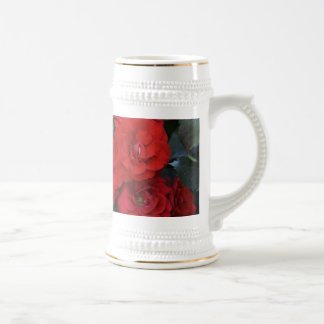 Flores del rosa rojo - fotografía de la flor taza de café
