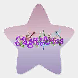 Flores del sagitario pegatina en forma de estrella