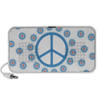 Flores del signo de la paz iPod altavoz