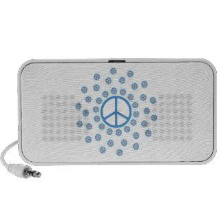 Flores del símbolo de paz iPod altavoces
