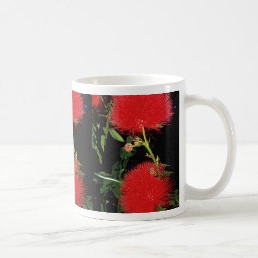 Flores del soplo del Redhead Tazas De Café