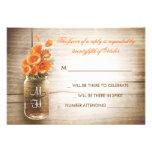 Flores del tarro y del naranja de albañil que casa anuncios personalizados