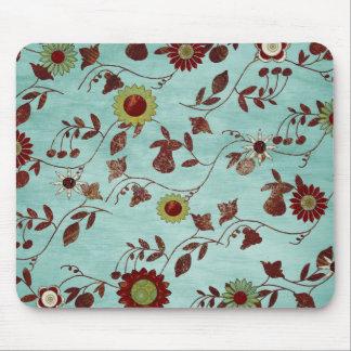 Flores del trullo tapetes de ratón