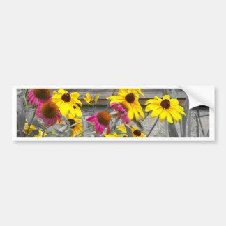 Flores del verano pegatina para auto