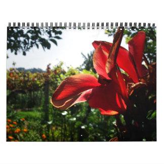 Flores del verano calendario de pared