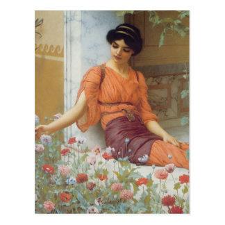 Flores del verano de Juan Guillermo Godward Postal
