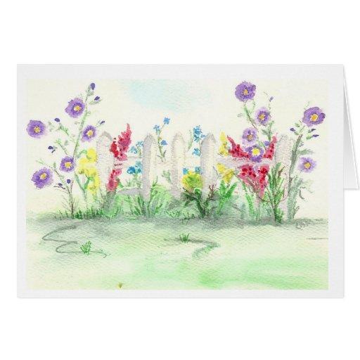 Flores del verano felicitacion