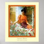 Flores del verano posters