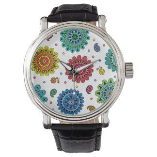 Flores del verano reloj