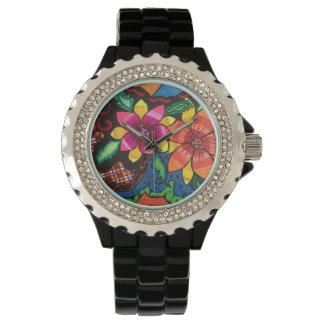 Flores del verano reloj de mano
