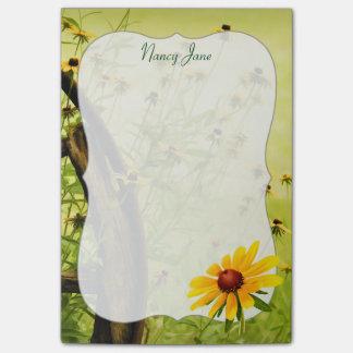 Flores del verano - Susans Negro-observado Post-it® Nota