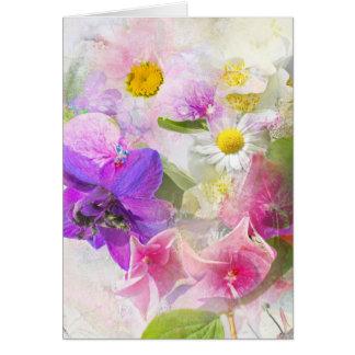 Flores del verano tarjeta pequeña
