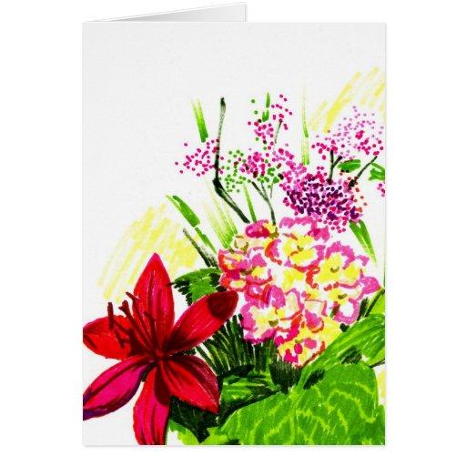 Flores del verano tarjetón