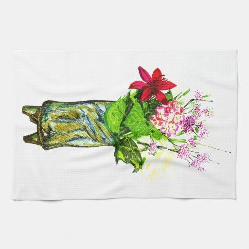 Flores del verano toallas de cocina