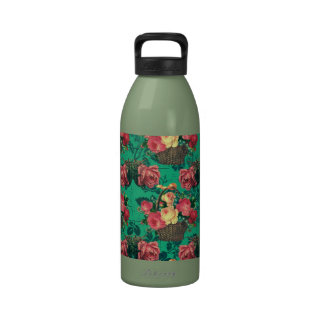 Flores del Victorian del vintage Botella De Agua Reutilizable