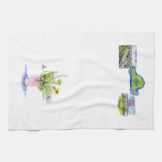 flores del viñedo con imágenes del viñedo toallas de mano
