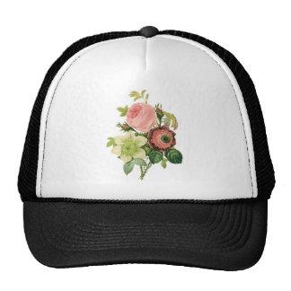 Flores del vintage, Clematis de los rosas de la an Gorros Bordados