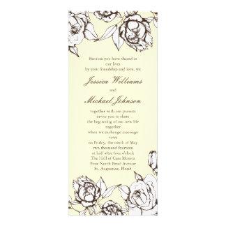 Flores del vintage comunicados personalizados