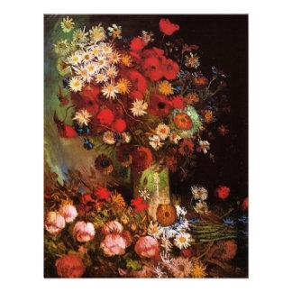 Flores del vintage de Van Gogh en vida floral del  Comunicado Personalizado