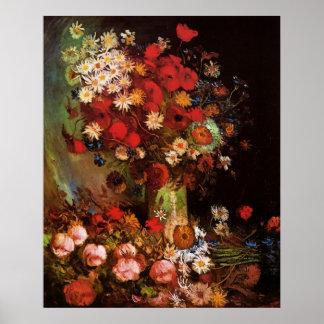 Flores del vintage de Van Gogh en vida floral del Impresiones