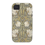 Flores del vintage de William Morris iPhone 4/4S Carcasas