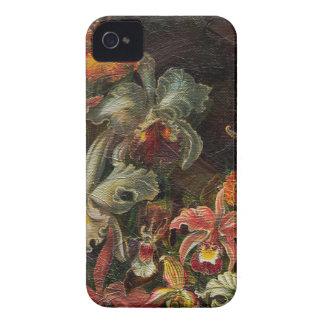 Flores del vintage del tono de la tierra carcasa para iPhone 4 de Case-Mate