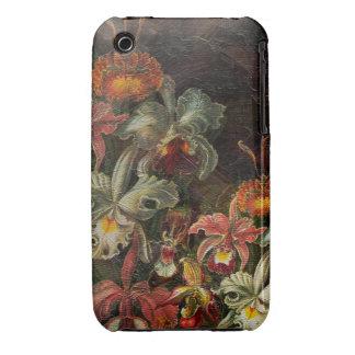 Flores del vintage del tono de la tierra funda para iPhone 3 de Case-Mate