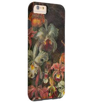 Flores del vintage del tono de la tierra funda resistente iPhone 6 plus