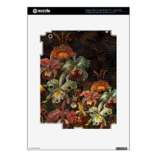 Flores del vintage del tono de la tierra iPad 3 skins