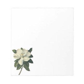 Flores del vintage, flor blanco floreciente de la blocs de papel