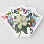 Flores del vintage, flor blanco floreciente de la  baraja