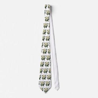 Flores del vintage, flor blanco floreciente de la corbata personalizada