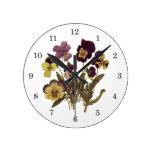 Flores del vintage, pensamientos florales del jard relojes
