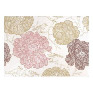 Flores del vintage plantilla de tarjeta personal