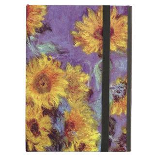 Flores del vintage, ramo de girasoles de Monet