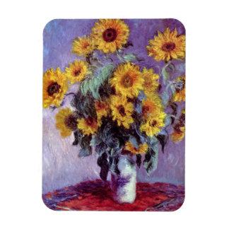 Flores del vintage, ramo de girasoles de Monet Iman De Vinilo