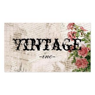 Flores del vintage sobre el texto apenado tarjetas de visita
