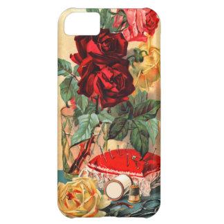 Flores del vintage y caso de costura del iPhone Funda Para iPhone 5C