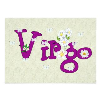 """Flores del virgo invitación 5"""" x 7"""""""