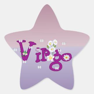 Flores del virgo pegatina en forma de estrella