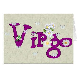 Flores del virgo tarjeta pequeña