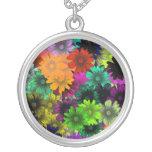 Flores del vitral colgante personalizado
