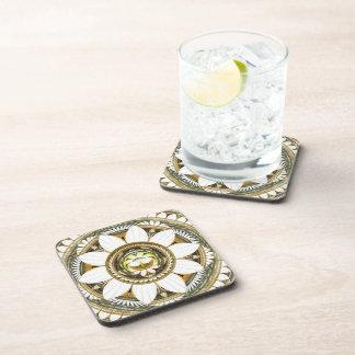 Flores delicadas del lirio posavasos de bebida