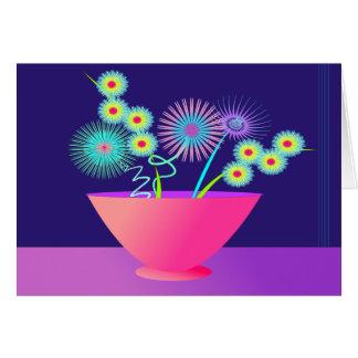 Flores delicadas tarjeta de felicitación