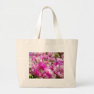 Flores delicados bolsa tela grande