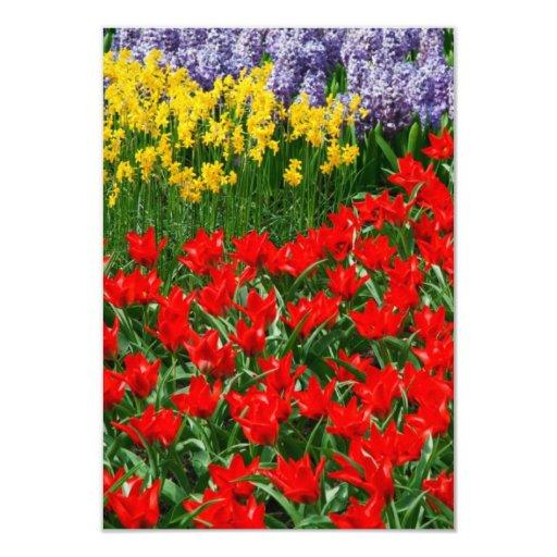 """Flores dichosos invitación 3.5"""" x 5"""""""