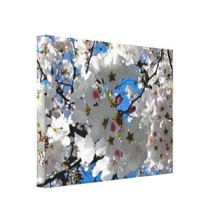 Flores dichosos lona envuelta para galerias